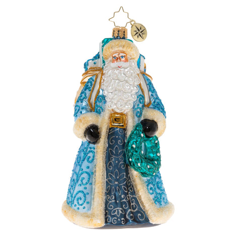Christopher Radko I'll Have A Blue Christmas Santa Ornament