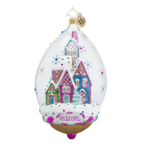 Christopher Radko Bonbon Bubble Sweets Dome House ornament New