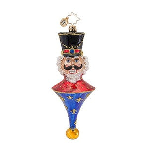 Radko TOP BRASS Nutcracker DROP Icicle ornament NEW