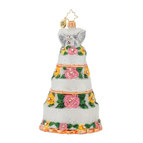 Christopher Radko Bridal Centerpiece Wedding Cake ornament