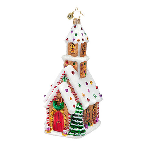 Radko CANDIED CATHEDRAL Church Christmas ornament NEW