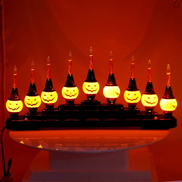Christopher Radko HALLOWEEN Pumpkin Candolier Bubble Lights