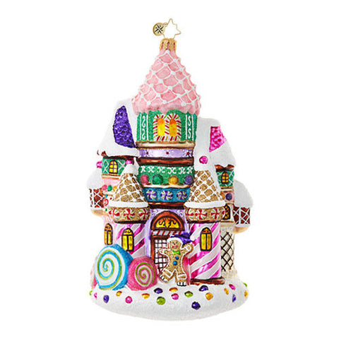 Christopher Radko CANDY CASTLE Gingerbread House Ornament