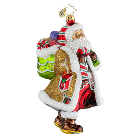 Radko CANDY CLAUS Santa Sweets Christmas ornament NEW