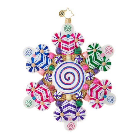 Radko CANDY SHOP SNOWFLAKE  ornament NEW 2017
