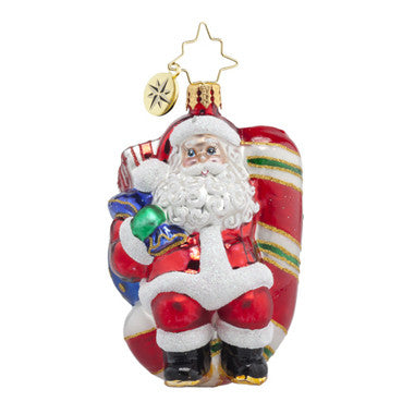 Christopher Radko CANDY SWING DELIGHT SANTA Gem ornament