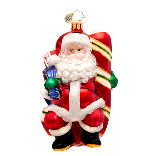 Radko CANDY SWING DELIGHT SANTA CLAUS ornament NEW