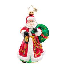 Radko CARRYING THE JOY Santa ornament NEW