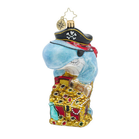 Radko Catch Of The Day Pirate Whale Ornament