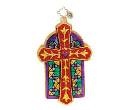 Radko Chapel Luminance Cross ornament NEW