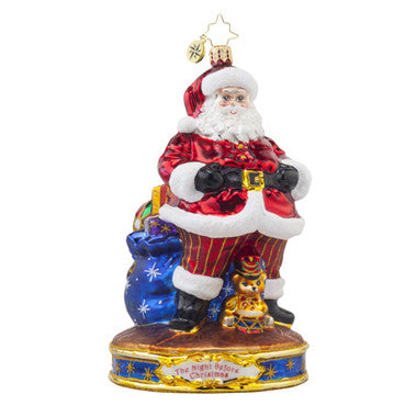Radko CHEEKS WERE LIKE ROSES Santa Ornament NEW