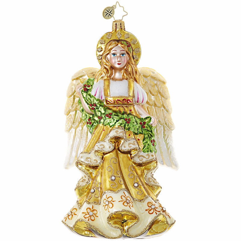 Radko Christmas Angel Gold Ornament New 2017