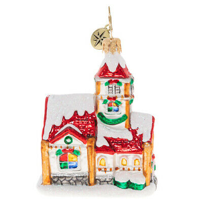 Christopher Radko Christmas Chapel Gem Little Country Church Ornament