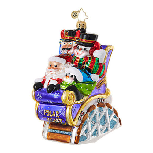 Radko CHRISTMAS COASTER Amusement Park Ride Ornament New 2017
