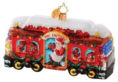 Radko B & O Railroad Train #5 Christmas Carriage Ornament