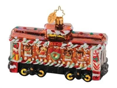 Radko B & O Railroad Train #9 Box Car Sweets Ornament