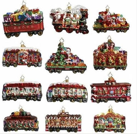 Christopher Radko B & O Railroad Train Set of 12 Ornaments