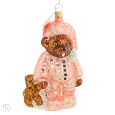 Christopher Radko Bearly Awake Pediatric Cancer Kids Ornament