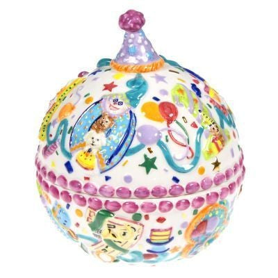 Christopher Radko Happy BIRTHDAY BLAST CANDLE & or CANDY DISH Ceramic New