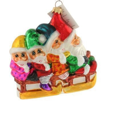 Christopher Radko BOB SQUAD Bobsledding ornament