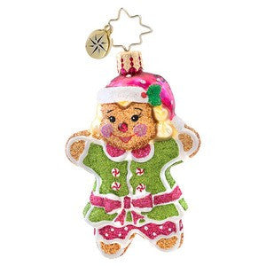Radko Little Gems GINGER JILL GEM Gingerbread Man Girl ornament NEW