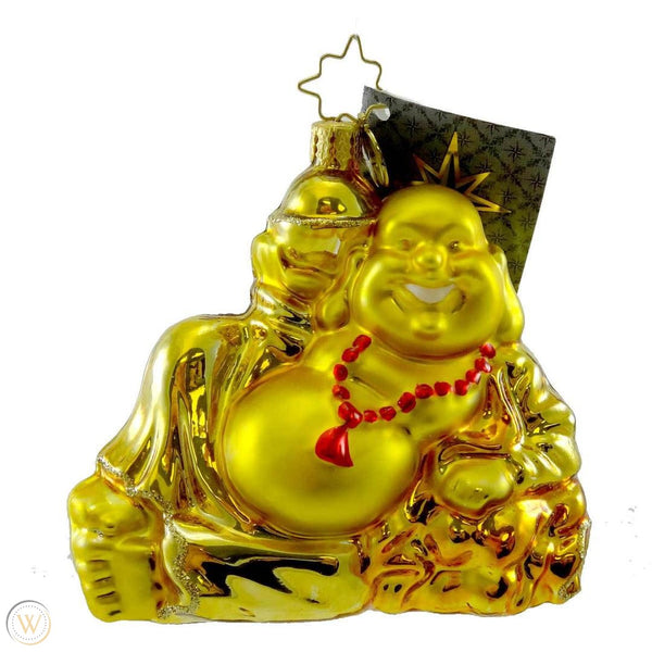 Christopher Radko Golden Serenity Happy Buddha Ornament