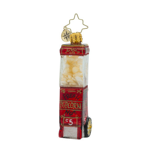 Christopher Radko POPPED TO PERFECTION Popcorn GEM Ornament