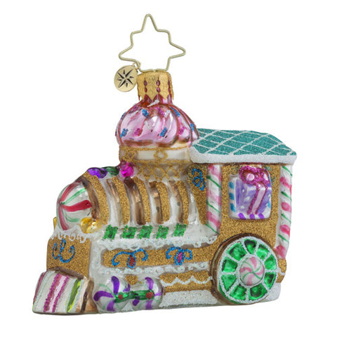 Christopher Radko Sugar Choo-Choo Train Gem Ornament