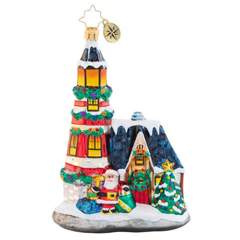 Christopher Radko Maritime Merriment Lighthouse Ornament