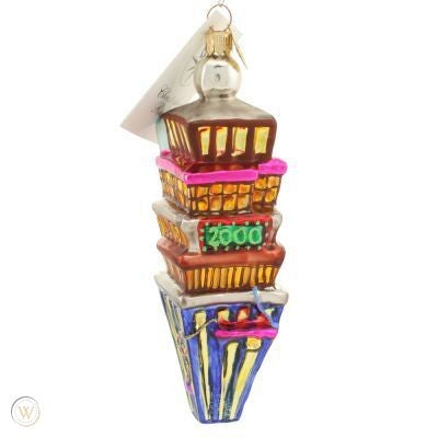 Christopher Radko Dated 2000 TIMES SQUARE Petite Count Down Ornament