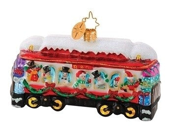 Radko B & O Railroad Train #11 Chilly Travelers Ornament