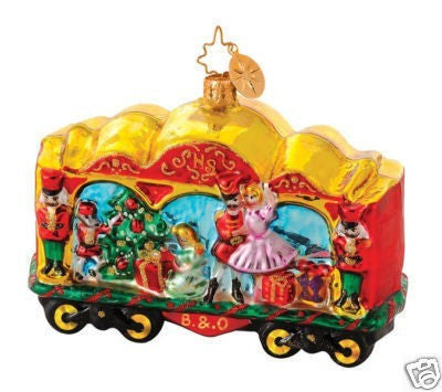 Radko B & O Railroad Train #8 Cracker Carriage Ornament Nutcracker Ballet Clara