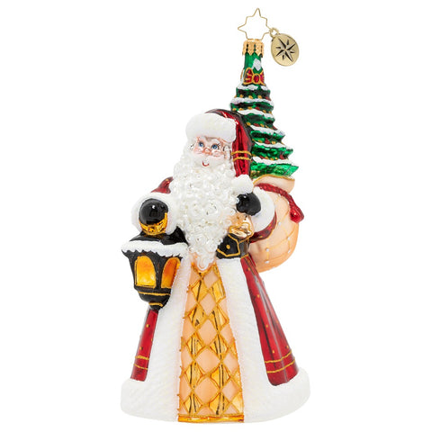 Christopher Radko Santa Leaves The Light On Ornament Limited