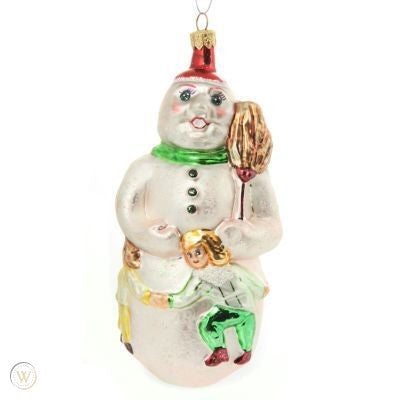 Christopher Radko Snow Dancing with Kids Snowman Ornament