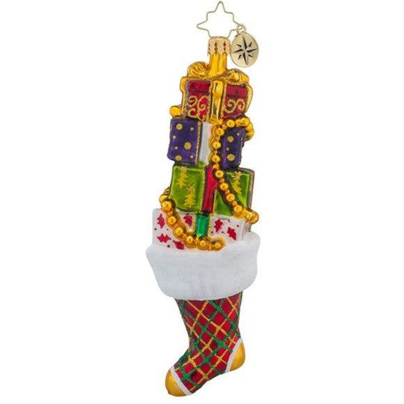 Radko SOCK IT TO ME Stocking ornament