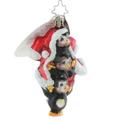 Christopher Radko SUITS US FINE Gem Penguin ornament Triplets