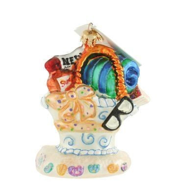 Christopher Radko Surf N Turf Beach Bag Ornament