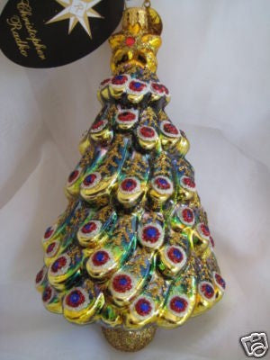 Christopher Radko TANNENBAUM TREASURES Peacock Tree Ornament