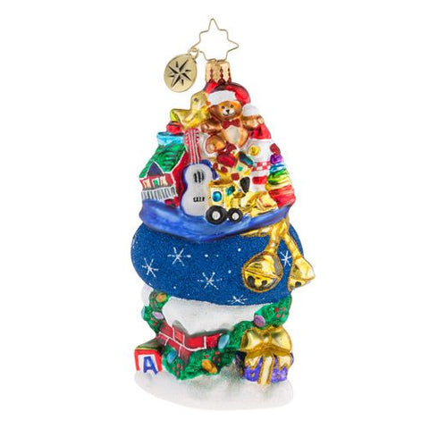 Christopher Radko Too Much Stuff! Santa's Toy Bag Ornament