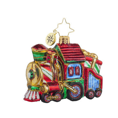 Radko Little Gems SWEET CHUGGIN ALONG Train gem ornament NEW