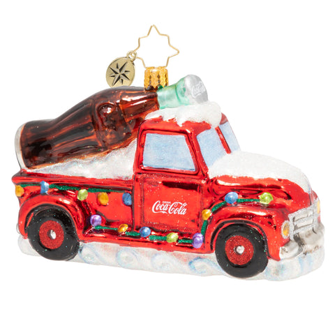 Christopher Radko A Coca-Cola Celebration Truck Ornament