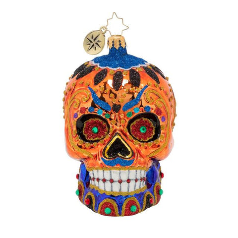 Christopher Radko Colorful Calavera Skull Day of the Dead ornament