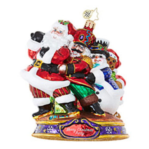 Christopher Radko Conga Santa Dance  Kringle Christmas MINGLE Ornaments New 2017