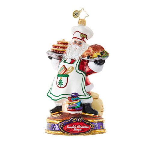 Christopher Radko COOKING KRINGLE Santa Chef Ornament