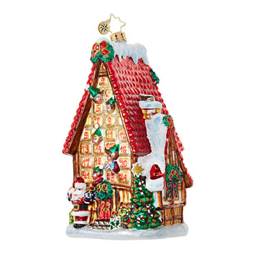 Radko COUNTDOWN COTTAGE Advent House Ornament NEW 2017