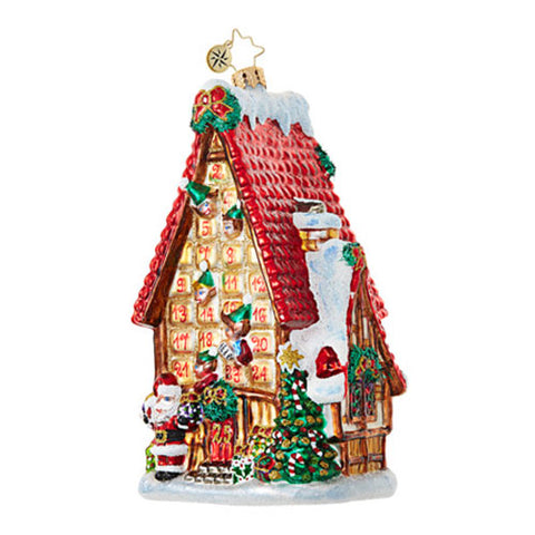 Christopher Radko COUNTDOWN COTTAGE Advent House Ornament NEW