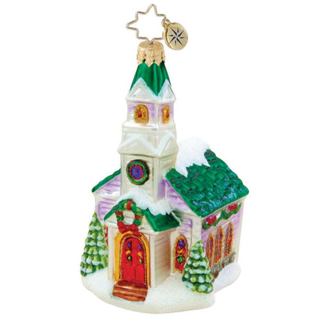 Christopher Radko Country Side Celebrations Church ornament
