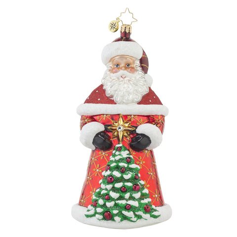 Radko CRIMSON NICK Santa & Tree with CR Star ornament NEW