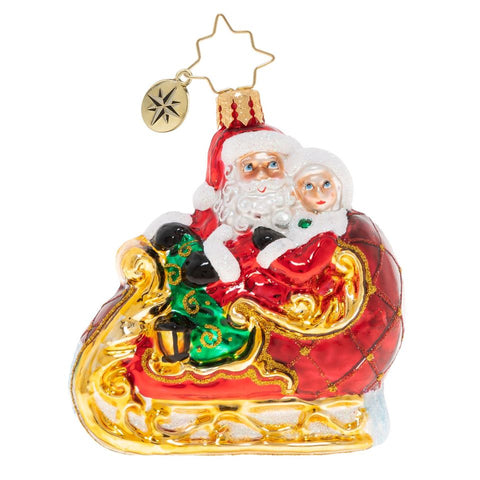 Christopher Radko Date Night Mr & Mrs Santa Claus Gem