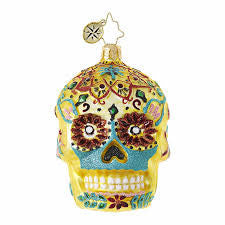 Radko La Calavera De Oro Little Gem Sugar Skull ornament New